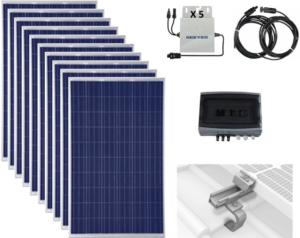 produits 10 modules solaire photovoltaïques autoconsommation