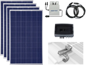 Sale Self-Consumption Kit Solar Equipment 4 panels 1100 Watts