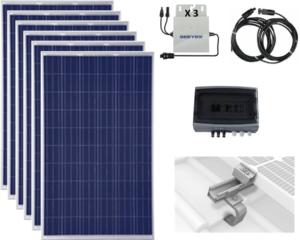6 modules solaire photovoltaïques autoconsommation