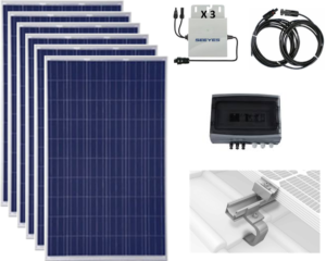 6 self-consumption photovoltaic solar modules