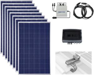8 modules solaire photovoltaïques autoconsommation