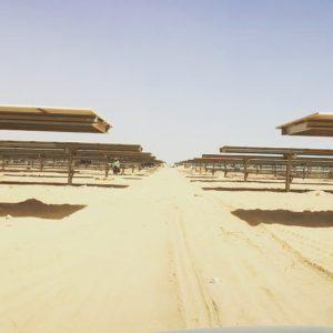 Suivi de chantier Centrale Photovoltaïque Noor4 50MW à Laayoune au Maroc