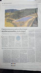 parc solaire électricité renouvelable