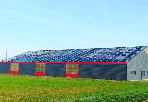 Photovoltaic agricultural hangar